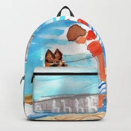 A Day at the Beach (finished) Backpack