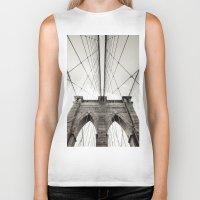 brooklyn bridge Biker Tanks featuring Brooklyn Bridge by Niklas Veenhuis