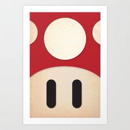 Minimal Powerup Art Print