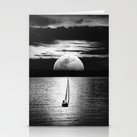 the moon Stationery Cards featuring Moon by haroulita