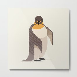 Whimsical Emperor Penguin Metal Print