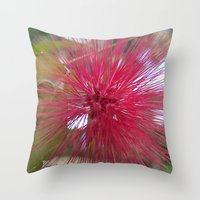 indonesia Throw Pillows featuring Flower (Bali, Indonesia) by Christian Haberäcker - acryl abstract