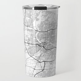 Minimal City Maps - Map Of Rochester, New York, Untited States Travel Mug