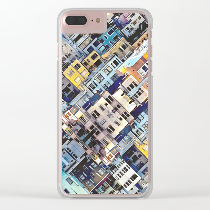 Apartments In The City Clear iPhone Case
