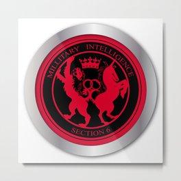 Mi6 Badge Button Metal Print