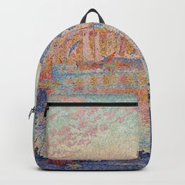 Paul Signac - The Port Of Saint Tropez Backpack