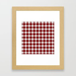Maroon Buffalo Plaid Framed Art Print