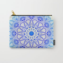 Blues Watercolor Mandala Carry-All Pouch