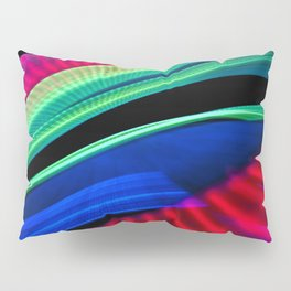 Colorful bands of light Pillow Sham