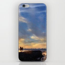 Evening by the sea iPhone Skin