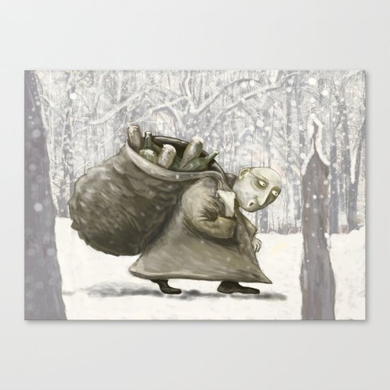 The Bottle Collector Canvas Print