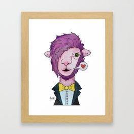 Pink lama Framed Art Print