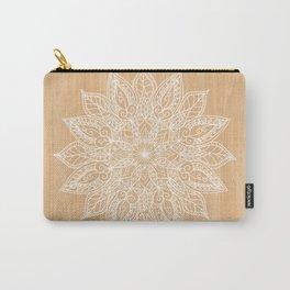 Leaf mandala - wood Carry-All Pouch