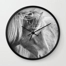 Modern Rustic Horse Wall Clock