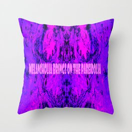 Melancholia Brings On The Pareidolia Throw Pillow