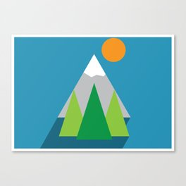 Flat mountain poster Canvas Print