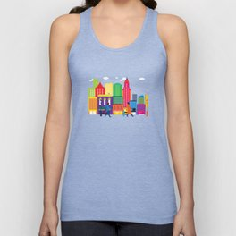 Business day in the city Unisex Tank Top