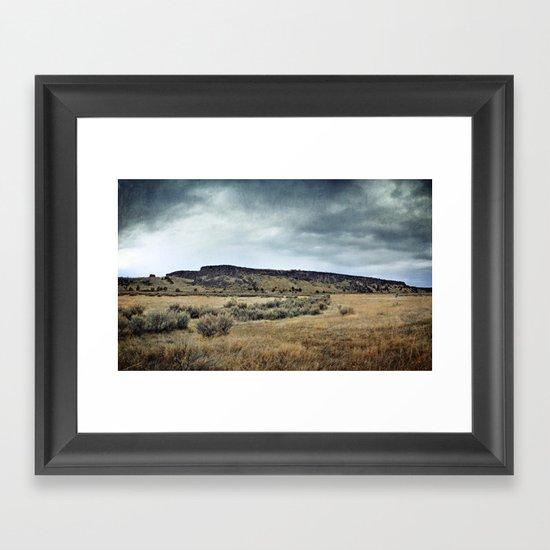 Buffalo Jump ! Framed Art Print