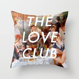 Luncheon with the Love Club Throw Pillow
