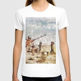 Bofors, Desert War, WWII T-shirt