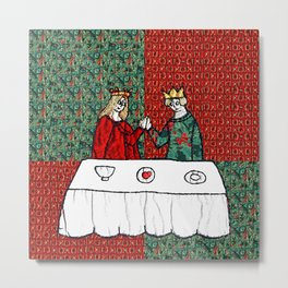 Happily ever after in red & green Metal Print