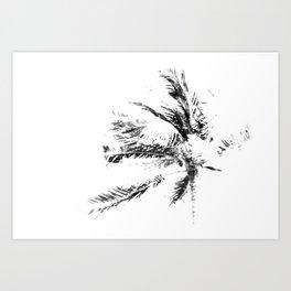 Palm Tree Sketch Art Print