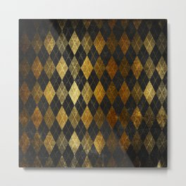 Black and gold geometric abstract pattern II- Luxury design for your home Metal Print