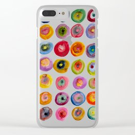 Color Rings Watercolor Clear iPhone Case