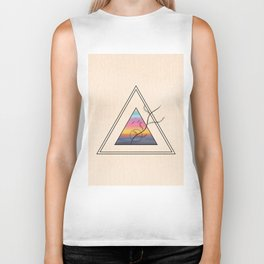 Triangle Sunset Biker Tank