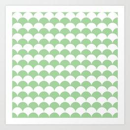 Mint Clamshell Pattern Art Print