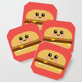 Happy Pixel Hamburger Coaster