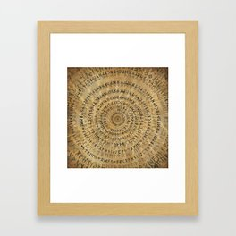 Elder Futhark Spiral Art on Wooden texture Framed Art Print