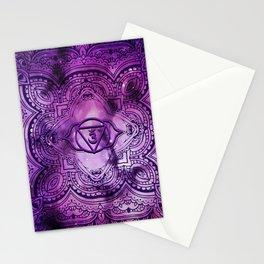 Cosmic Purple 3rd Eye Chakra  Tapestry Stationery Cards