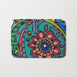 art colour crocodile new love hot 2018 pattern s6 flower Bath Mat
