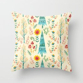 Meadow Wandering Throw Pillow