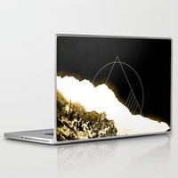 snowboarding Laptop & iPad Skins featuring Golden Mountain by Schwebewesen • Romina Lutz