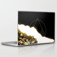 snowboard Laptop & iPad Skins featuring Golden Mountain by Schwebewesen • Romina Lutz