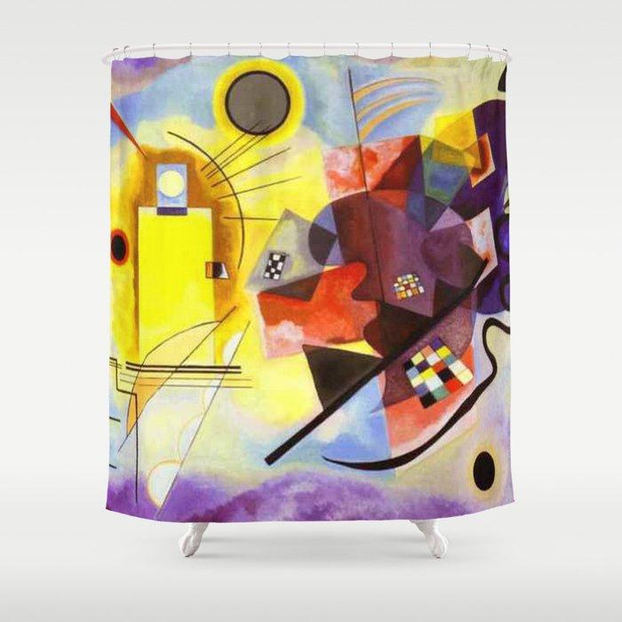 Wassily Kandinsky Yellow Red Blue Shower Curtain