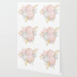 Roses Gold Glitter Pink by Nature Magick Wallpaper