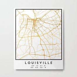 LOUISVILLE KENTUCKY CITY STREET MAP ART Metal Print