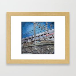 Regional Rail Train in Philadelphia Framed Art Print
