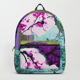 Asian Flower Woman Purple Asia Japan Japanese Art Backpack