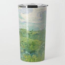 Vincent van Gogh Green Wheat Fields, Auvers 1890 Painting Travel Mug