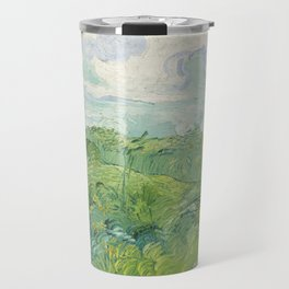 Vincent van Gogh Green Wheat Fields, Auvers 1890 Painting Travel Mug