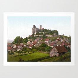 Burg Hanstein um 1900 Art Print