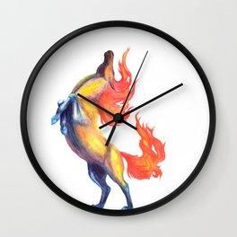 fire horse 2 Wall Clock