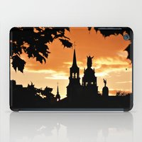 montreal iPad Cases featuring Sunset in Old Montreal by Photos By Healy