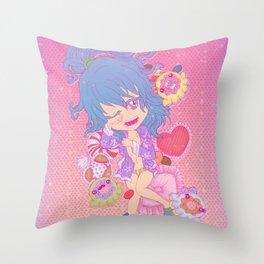 Slumber Party Vixen: Tsugumi Throw Pillow