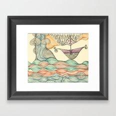 Hundertwasser's last voyage Framed Art Print