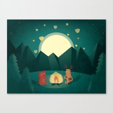 Camp Fires Canvas Print